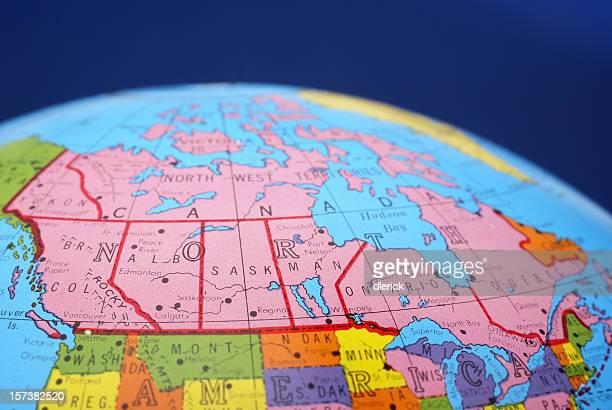 global map--Canada