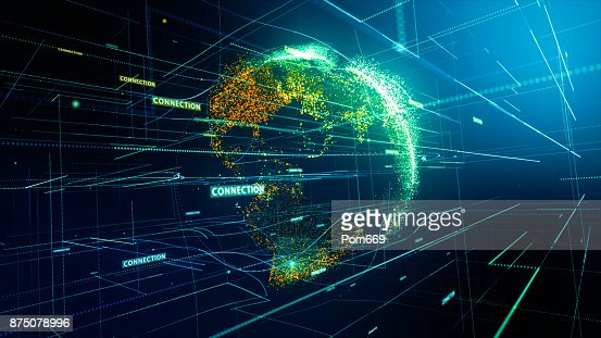 Global network connection : Stock Photo