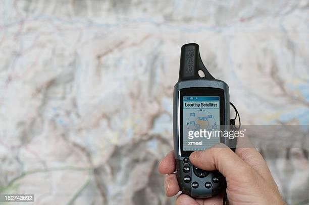 Global Positioning System von Satelliten-Suche