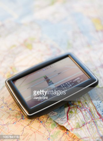 Global positioning system on map