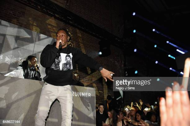 Global recording artist Future headlines at the global launch of Reebok Classics new Zoku Runner at Village Underground on March 2 2017 in London...