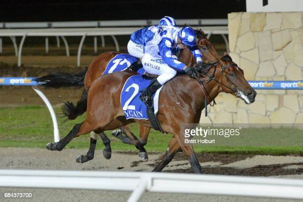 Global Rocket ridden by Regan Bayliss wins the Pakenham Mazda Maiden Plate at Racingcom Park Synthetic Racecourse on May 18 2017 in Pakenham Australia