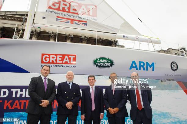 Global Sponsorship Manager for Land Rover Ed Tilston Sir Robin KnoxJohnston Sports Minister Hugh Robertson Managing Director of Grange Hotels Tony...