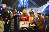 Global Superstar Kylie Minogue Lights up Oxford Street at Pandora Switch On with Evie Hone Dave Berry Lisa Snowdon Foxes Ben Haenow and Gabrielle...