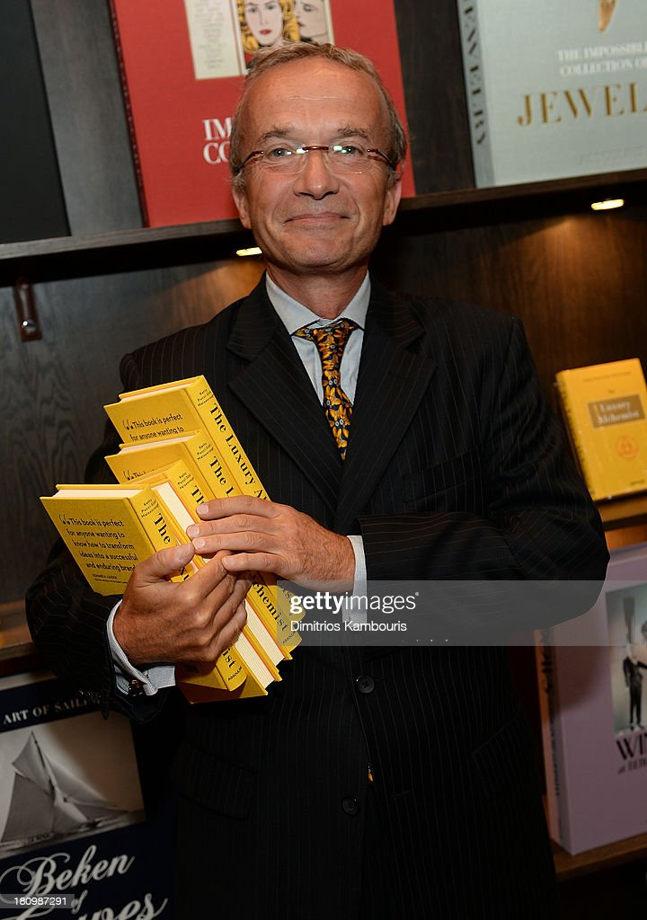 Global Vice Chair of Dentons, Francois M. Chateau attends ASSOULINE, Martine and Prosper Assouline host a book signing for Ketty Pucci-Sisti Maisonrouge's 'The Luxury Alchemist' at Assouline at The Plaza Hotel on September 18, 2013 in New York City.