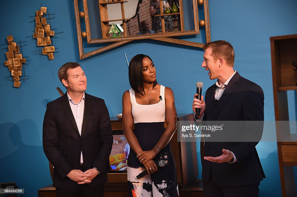 Global Vice President for Mars Food Craig Annis Kelly Rowland and Corporate Affairs Manager for Mars Food North America Matt Hurst attend Ben's...