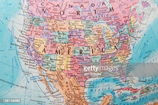 Global View of USA : Stock Photo