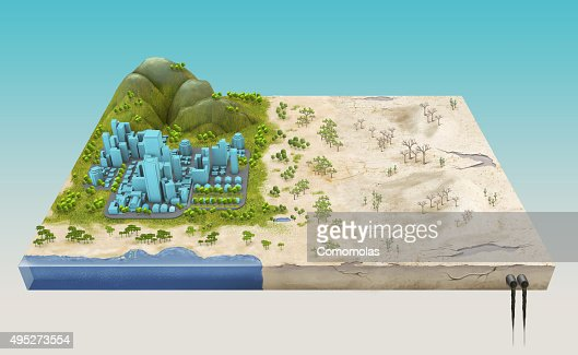 global warming earth before and after stock photo thinkstock