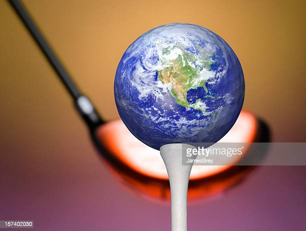 Global Warming Ready to Strike Planet Earth on Golf Tee