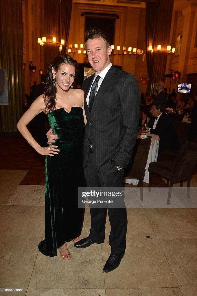 Global Weather Anchor <a gi-track='captionPersonalityLinkClicked' href=/galleries/search?phrase=Anthony+Farnell&family=editorial&specificpeople=244106 ng-click='$event.stopPropagation()'>Anthony Farnell</a> and Samantha Guedes attend Operation Smile's Toronto Smile Event at Windsor Arms Hotel on March 7, 2013 in Toronto, Canada.