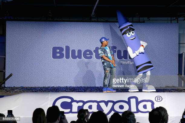 Globally recognized dancer Leon Kida Burns and Crayolas new blue character Bluetiful celebrated with an upbeat and creative performances at an event...