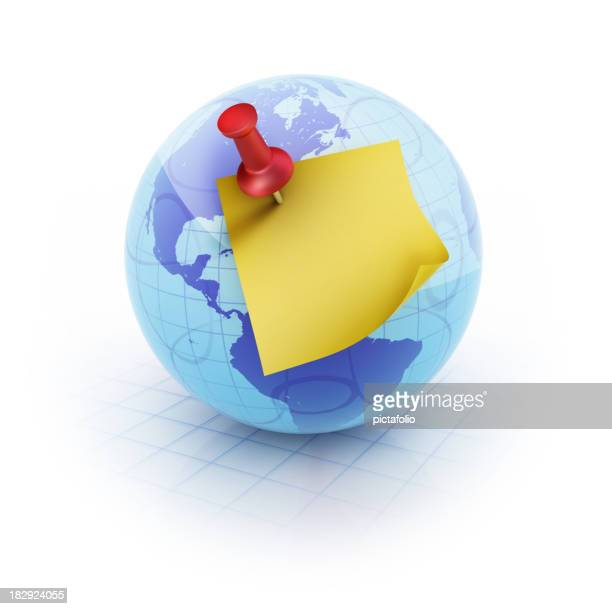 Globe and Blog Note