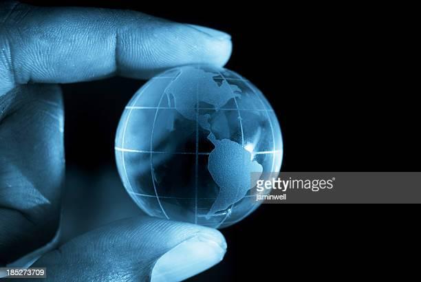 globe at fingertips