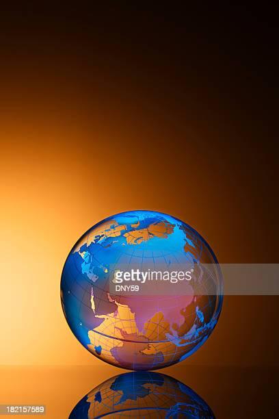 Globe Europe and Asia