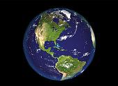 Globe north and south america illustration, 3d render illustration