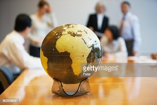 Globe on a Conference Table