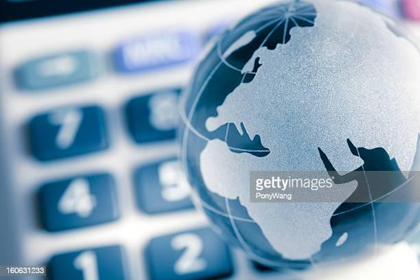 Globus auf Rechner, Europa Karte