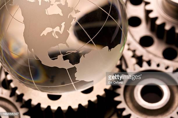 Globe on gears