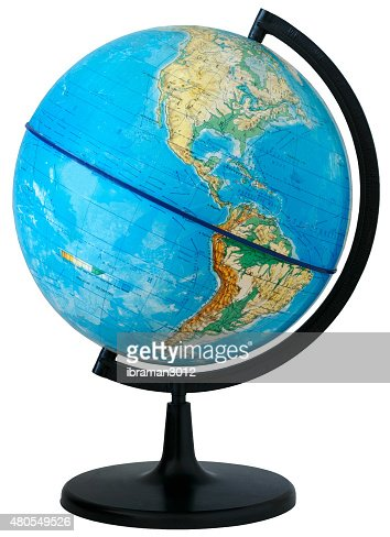 Globe. Physical map : Stock Photo