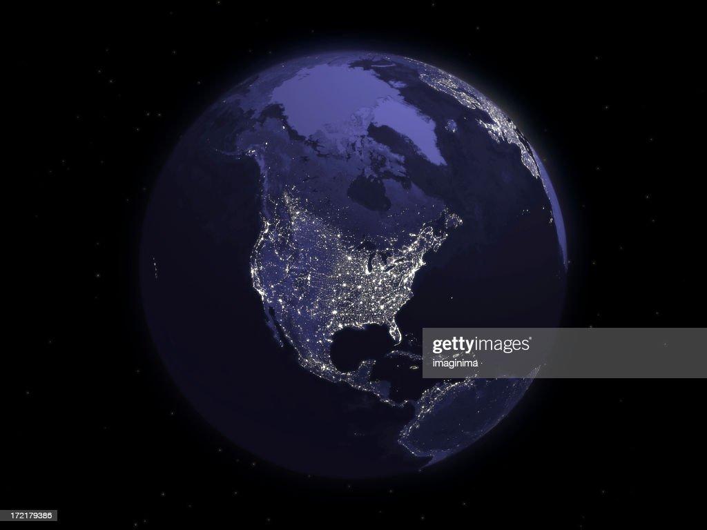 Globe Series: Night - North America : Stock Photo
