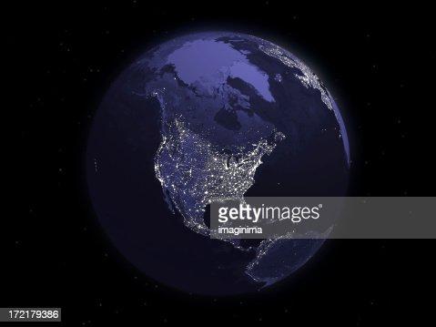 Globe Series: Night - North America
