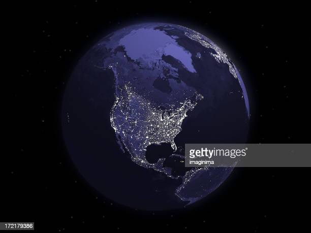 Globe Series: Night - North America