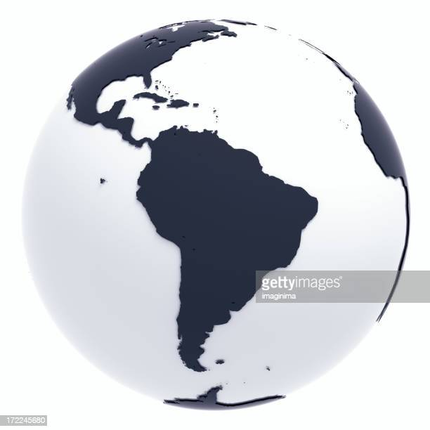 Globe Series: Silver II - South America (with Clipping Path)