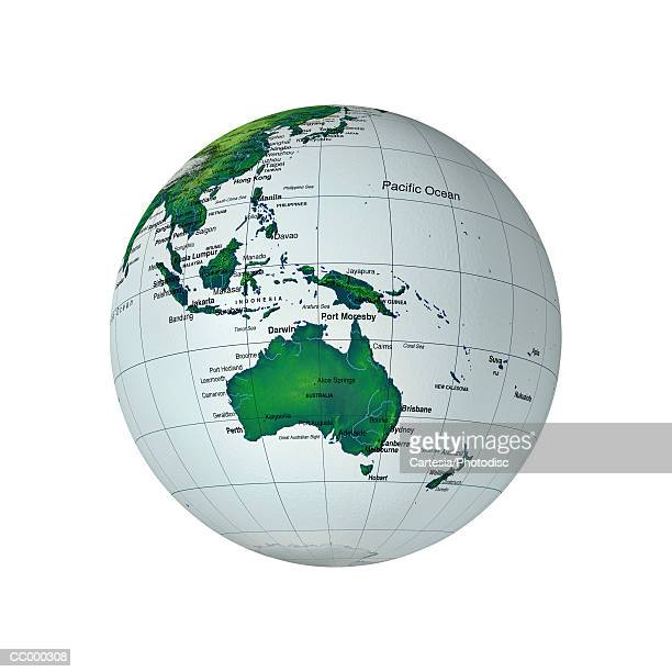 Globe Showing Australia and Southeast Asia
