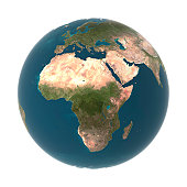 Globe with Africa prominent (Digital)