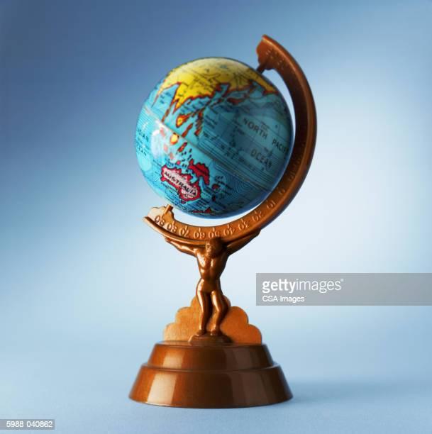 Globe with Atlas Base