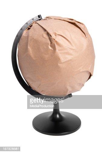 Globe wrapped