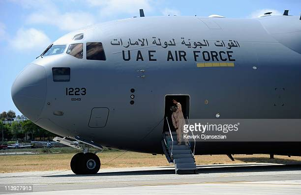 Globemaster III airlifters built for the United Arab Emirates Air Force and Air Defence is prepared for takeoff from Long Beach Airport after Boeing...