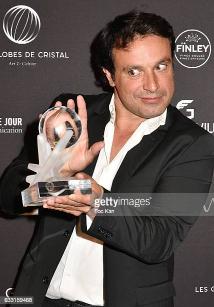 Globes de Cristal 2017 awarded actor Bruno Salomone attend Les Globes de Cristal Awards 11th Ceremony at Lido on January 30 2017 in Paris France