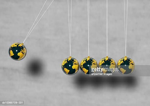 Globes hanging