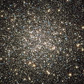 December 4, 2008 - Hubble catches an instantaneous glimpse of many hundreds of thousands of stars moving about in the globular cluster M13, one of the brightest and best-known globular clusters in the