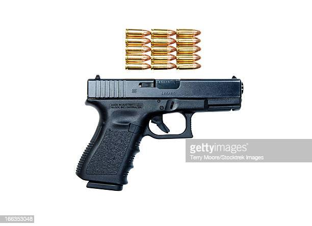 Glock Model 19 handgun with 9mm ammunition.