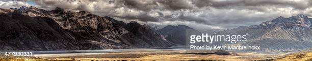 Gloomy mountain landscape.