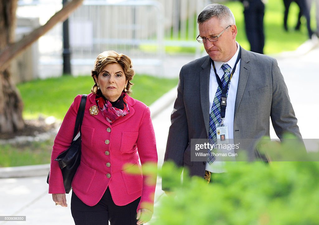 <a gi-track='captionPersonalityLinkClicked' href=/galleries/search?phrase=Gloria+Allred&family=editorial&specificpeople=213999 ng-click='$event.stopPropagation()'>Gloria Allred</a>, an attorney for some of the victims in the Bill Cosby sexual abuse case arrive for a preliminary hearing on sexual assault charges at Montgomery County Courthouse on May 24, 2016 in Norristown, Pennsylvania.