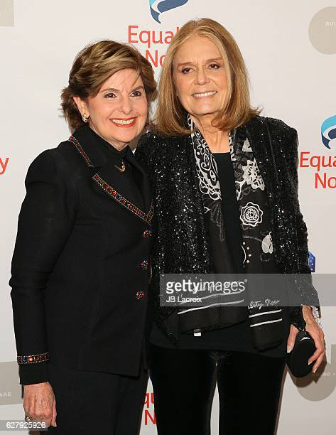 Gloria Allred and Gloria Steinem attend Equality Now's 3rd annual 'Make Equality Reality' gala on December 05 2016 in Beverly Hills California