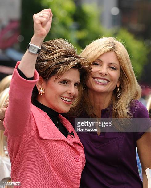 Gloria Allred and Lisa Bloom visit Extra at The Grove on June 7 2011 in Los Angeles California