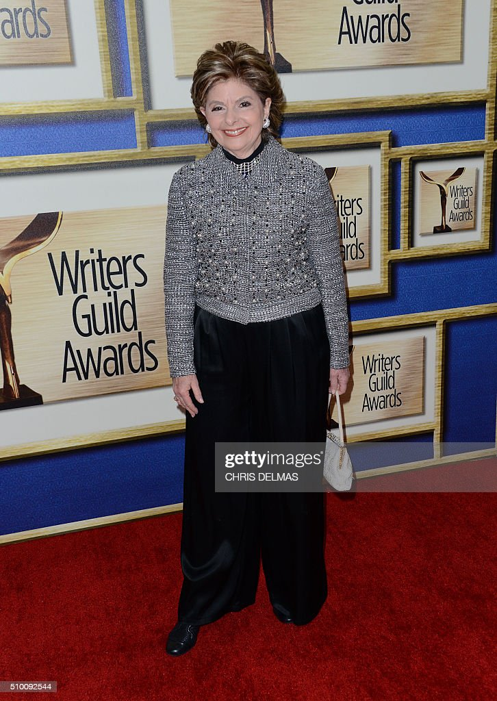 Gloria Allred arrives for the Writers Guild Awards in Century City, California, February 13, 2016. / AFP / CHRIS DELMAS