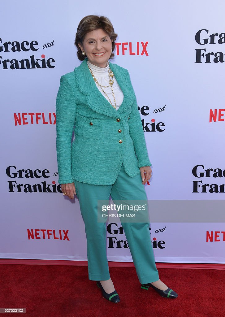 Gloria Allred attends the Season 2 Premiere of Grace and Frankie, in Los Angeles, California, on May 1, 2016. / AFP / CHRIS