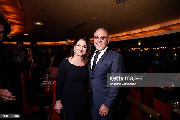 Gloria and Emilio Estefan attend 'On Your Feet' Broadway musical fan meet and greet at The New York Marriott Marquis on November 2 2015 in New York...