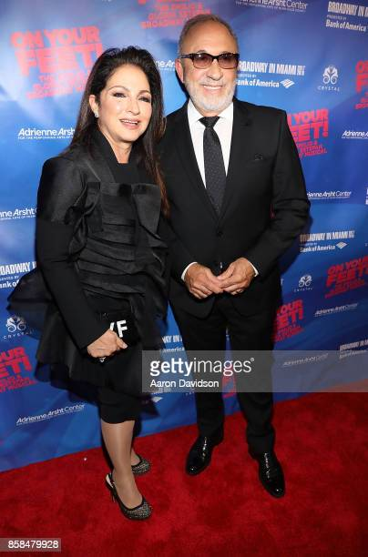 Gloria and Emilio Estefan attends 'On Your Feet' National Tour Opening Night at Adrienne Arsht Center on October 6 2017 in Miami Florida