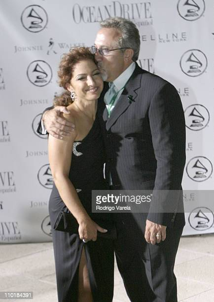 Gloria and Emilio Estefan during 4th Annual Latin GRAMMY Awards After Party at The Loews Hotel in Miami Beach Florida United States