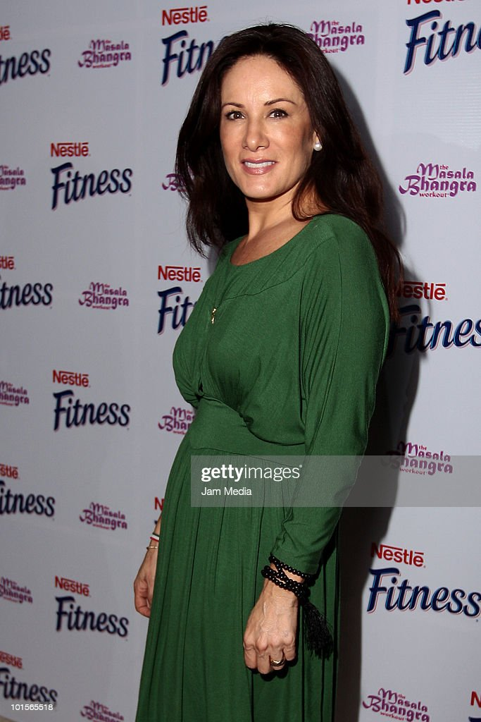 Gloria Calzada poses for a photo during the presentation of Bhangra Masala Workout for Nestle Fitness at Joy Room on June 2, 2010 in Mexico City, Mexico.