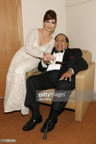 Gloria Estefan and Cachao during Carnival Center Grand Opening 'Concert for Miami' Backstage at Carnival Center for the Performing Arts in Miami...