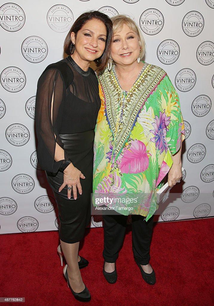 Gloria Estefan and Cristina Saralegui attend Cristina Saralegui's Book Launch at Vintro Hotel on October 23, 2014 in Miami, Florida.