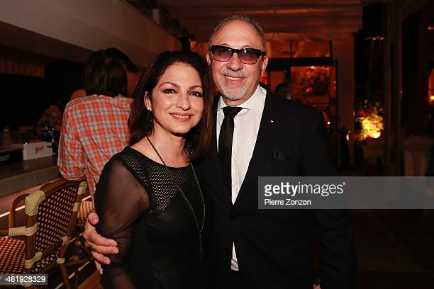 Gloria Estefan and Emilio Estefan are seen at Seasalt and Pepper Restaurant on January 11 2014 in Miami Florida