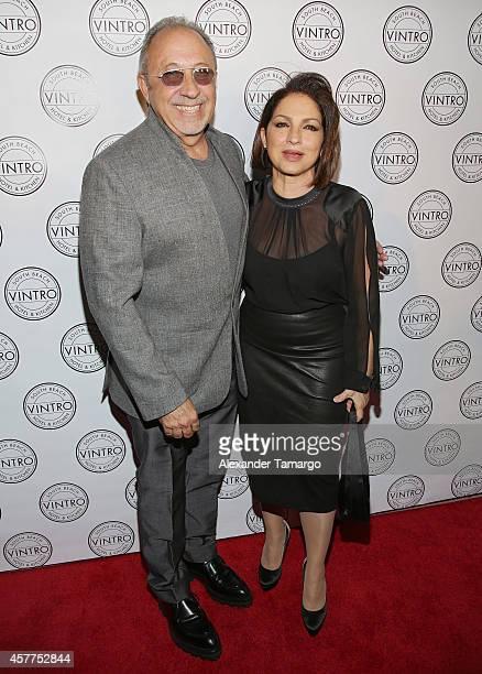 Gloria Estefan and Emilio Estefan attend Cristina Saralegui's Book Launch at Vintro Hotel on October 23 2014 in Miami Florida